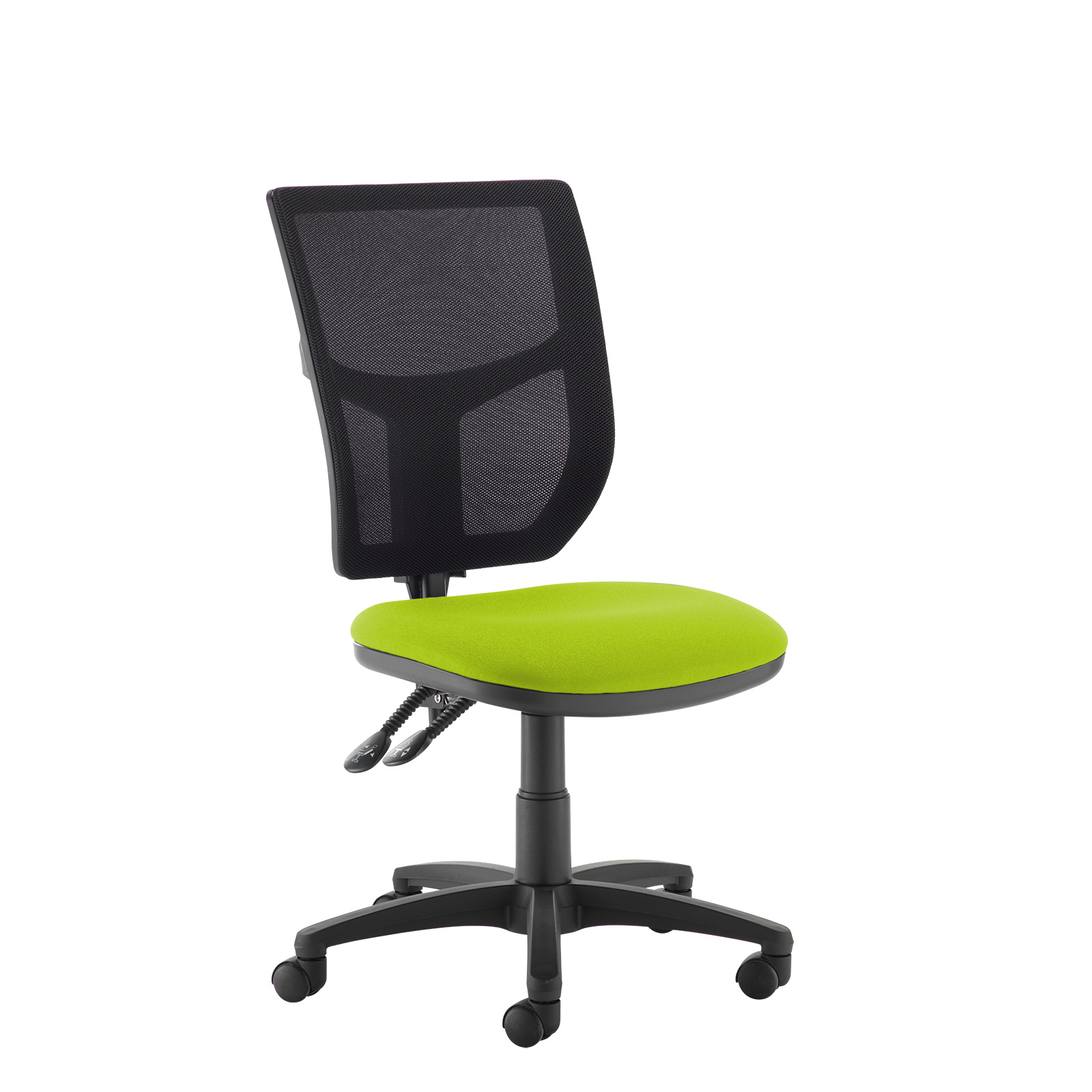 Altino 2 lever high mesh back operators chair with no arms - green