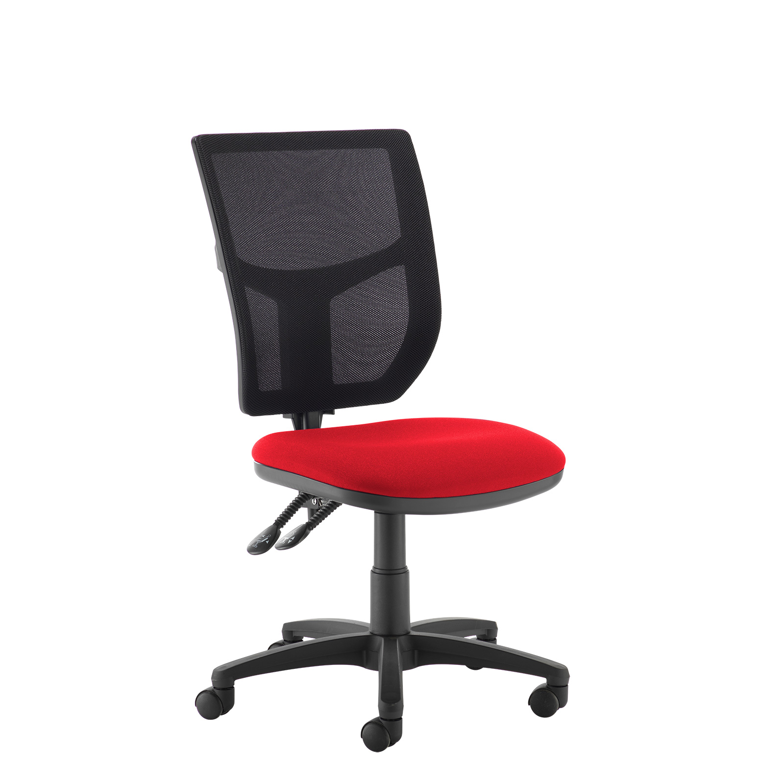 Desk Chairs Altino 2 lever high mesh back operators chair with no arms - red