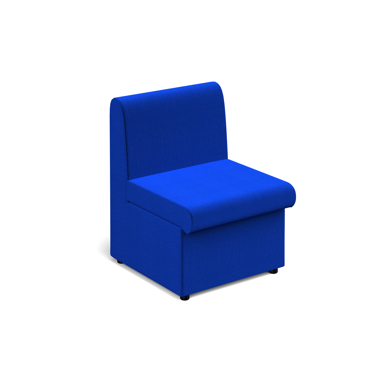 Reception Chairs Alto modular reception seating with no arms - blue