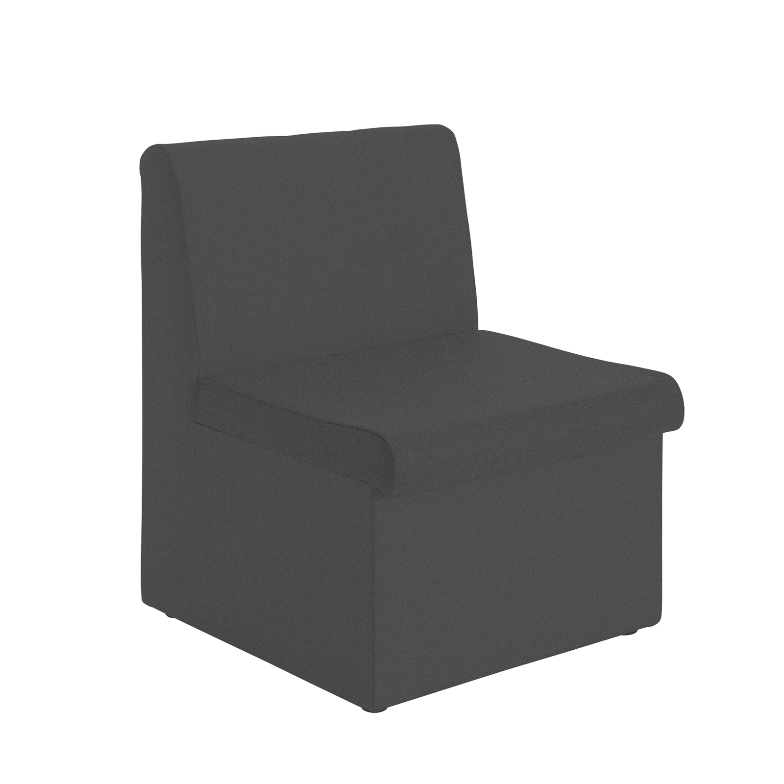 Reception Chairs Alto modular reception seating with no arms - charcoal