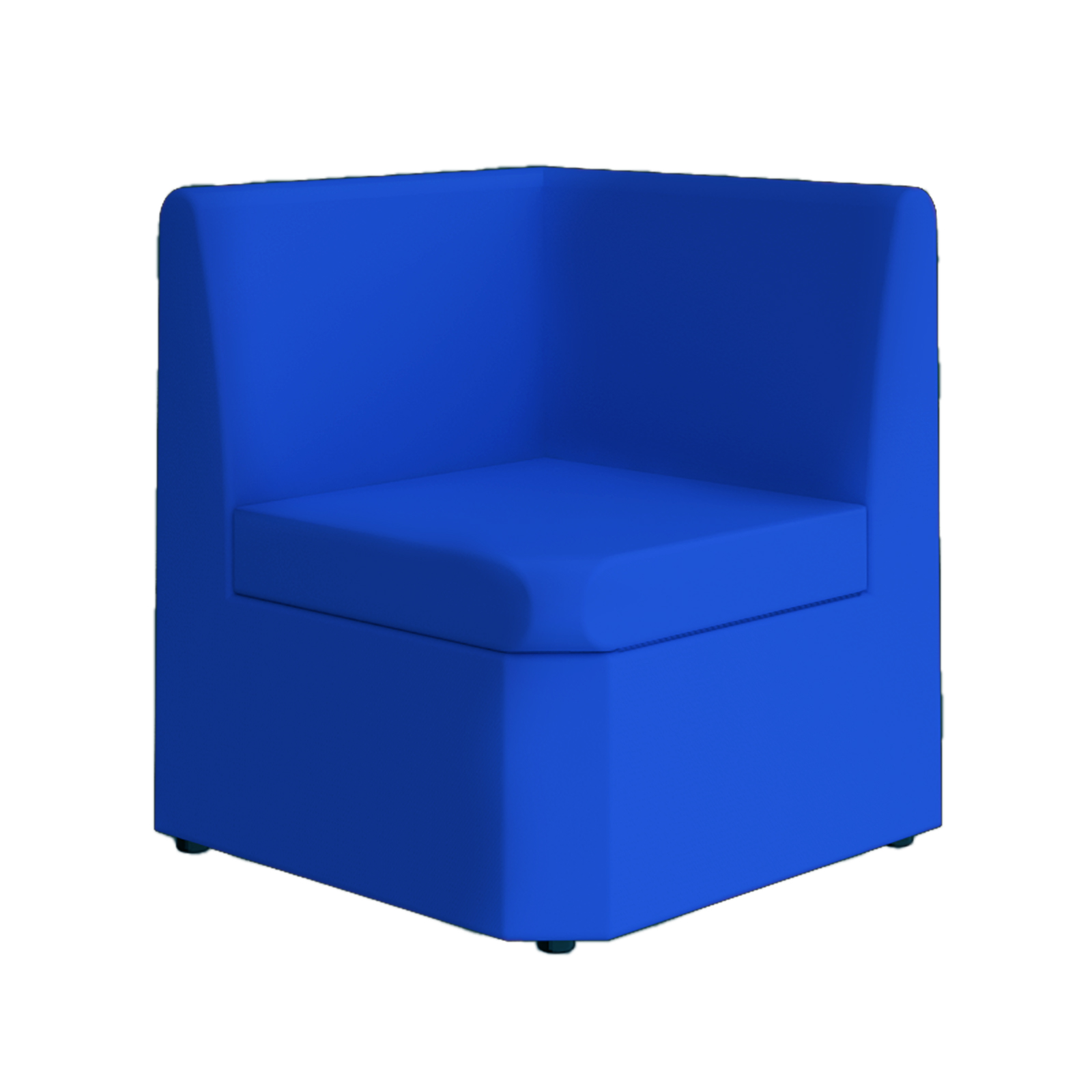 Reception Chairs Alto modular reception seating corner unit - blue