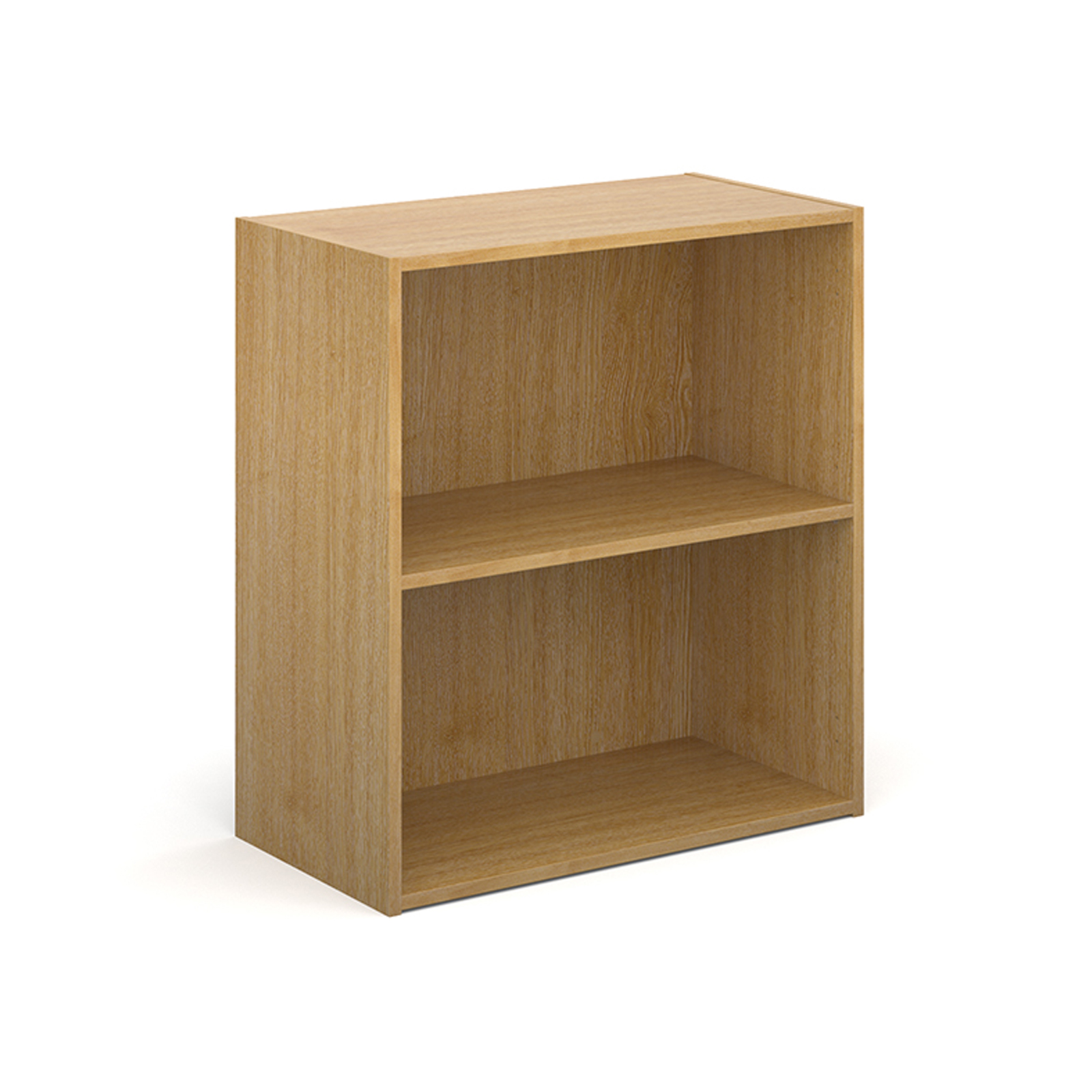 Up To 1200mm High Contract bookcase 830mm high with 1 shelf - oak