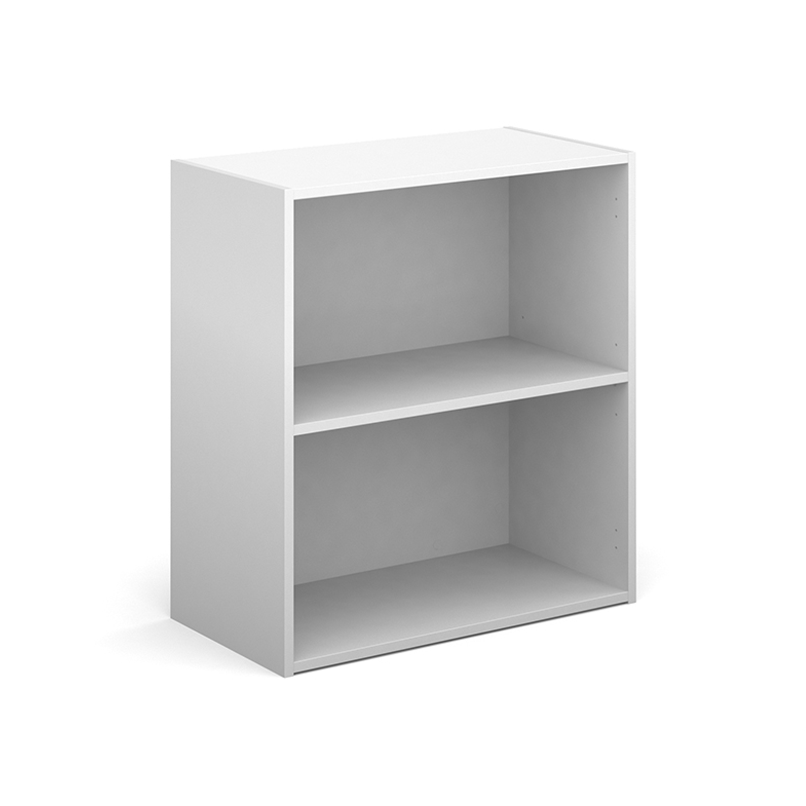 Up To 1200mm High Contract bookcase 830mm high with 1 shelf - white