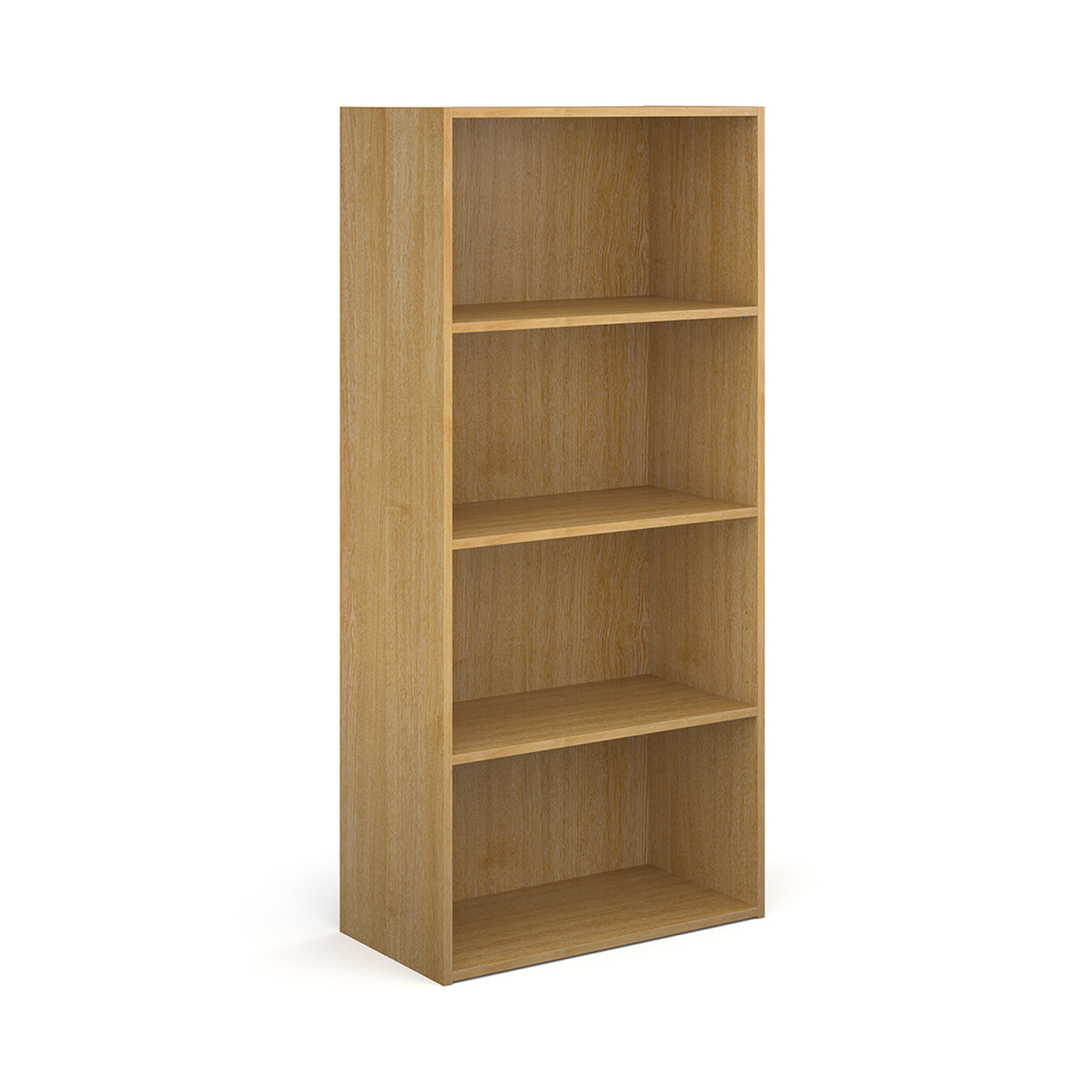 Over 1200mm High Contract bookcase 1630mm high with 3 shelves - oak