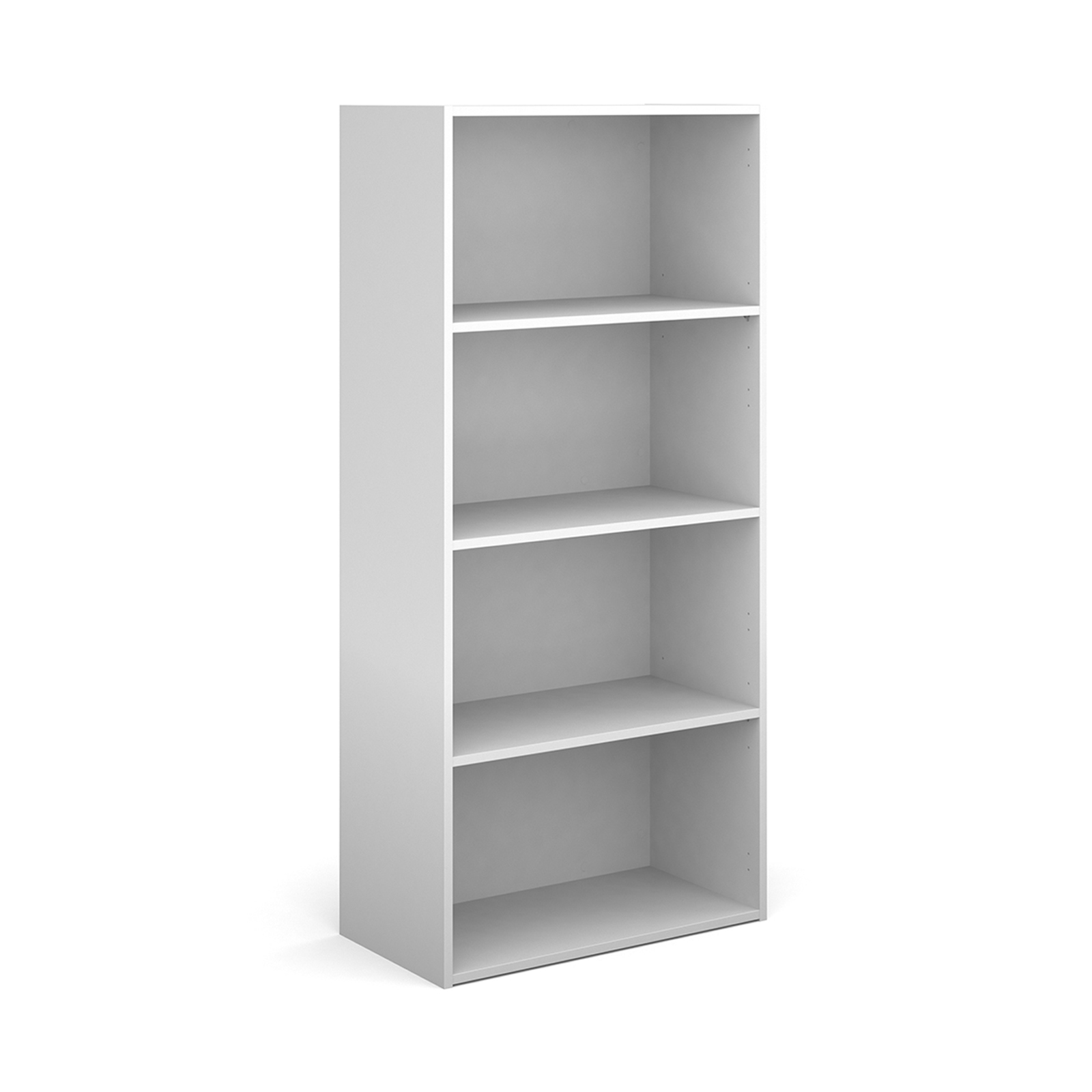 Over 1200mm High Contract bookcase 1630mm high with 3 shelves - white