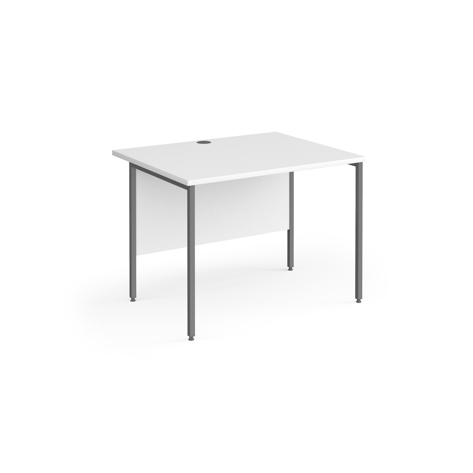 Contract 25 straight desk with graphite H-Frame leg 1000mm x 800mm - white top