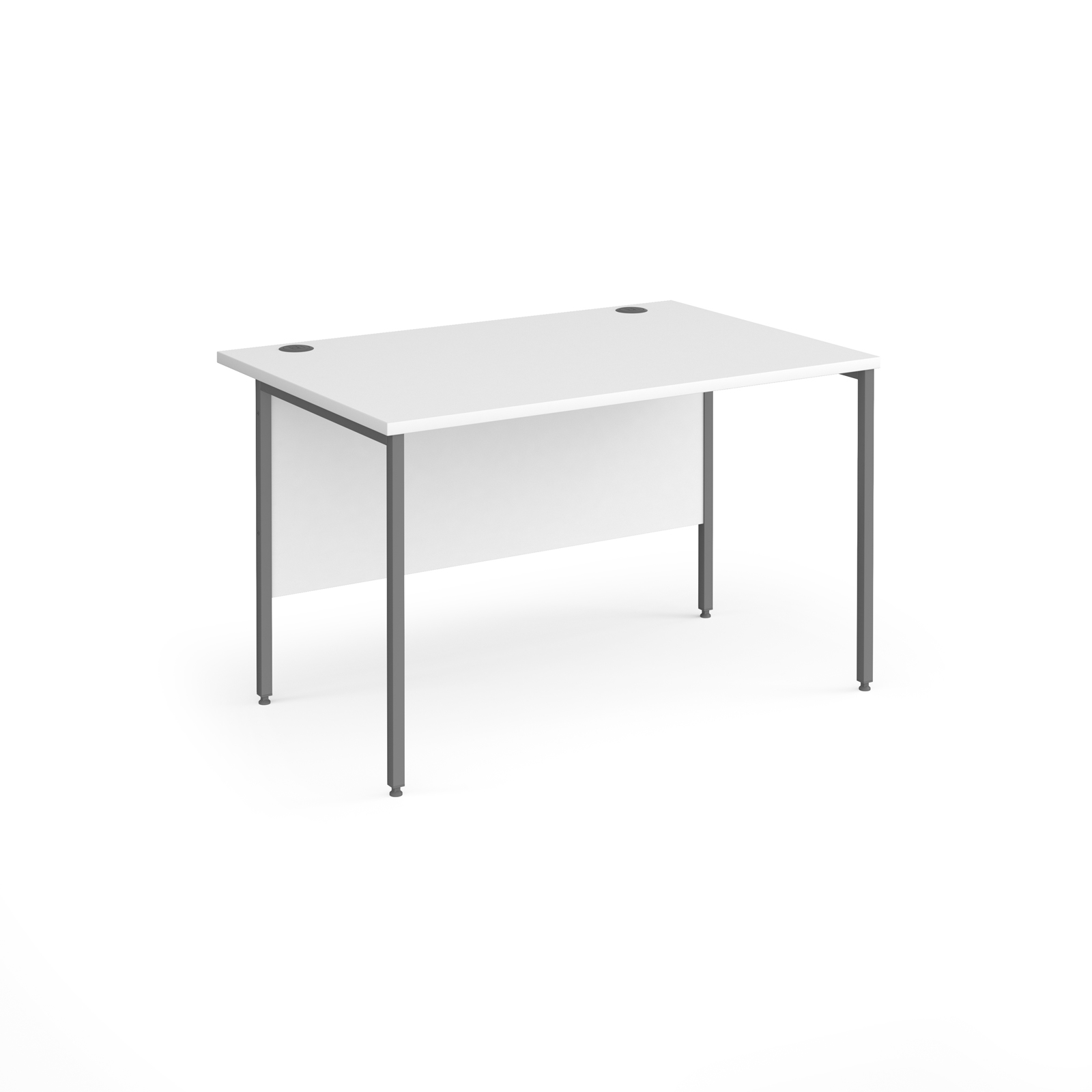 Contract 25 straight desk with graphite H-Frame leg 1200mm x 800mm - white top
