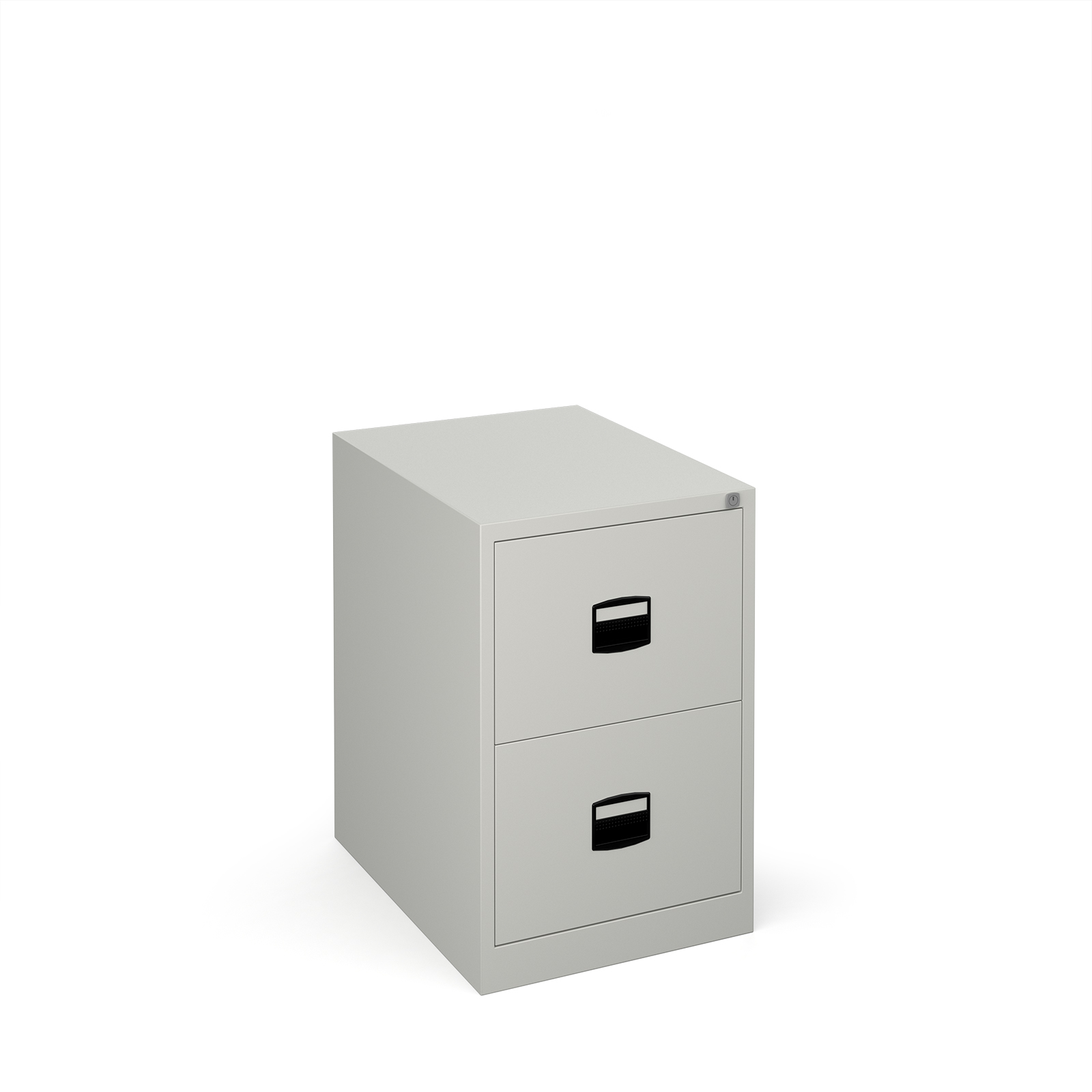 Steel Steel 2 drawer contract filing cabinet 711mm high - goose grey