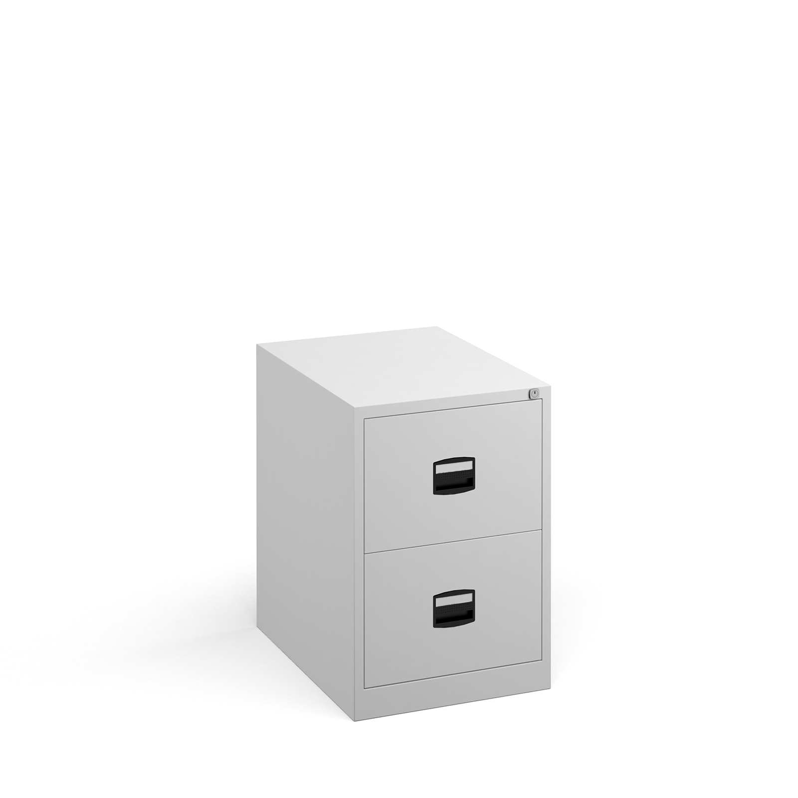 Steel Steel 2 drawer contract filing cabinet 711mm high - white
