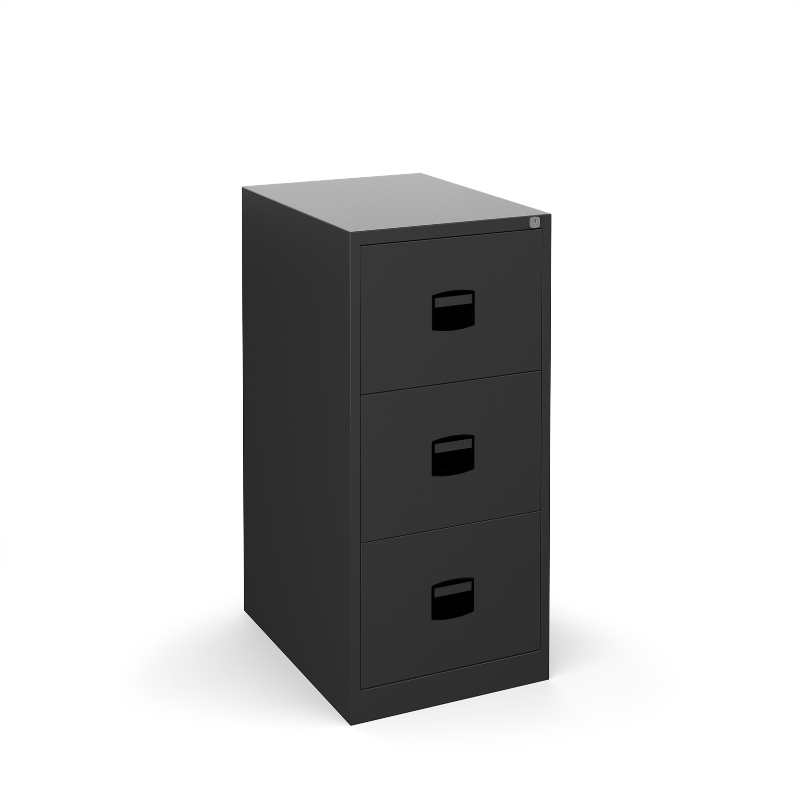 Steel Steel 3 drawer contract filing cabinet 1016mm high - black