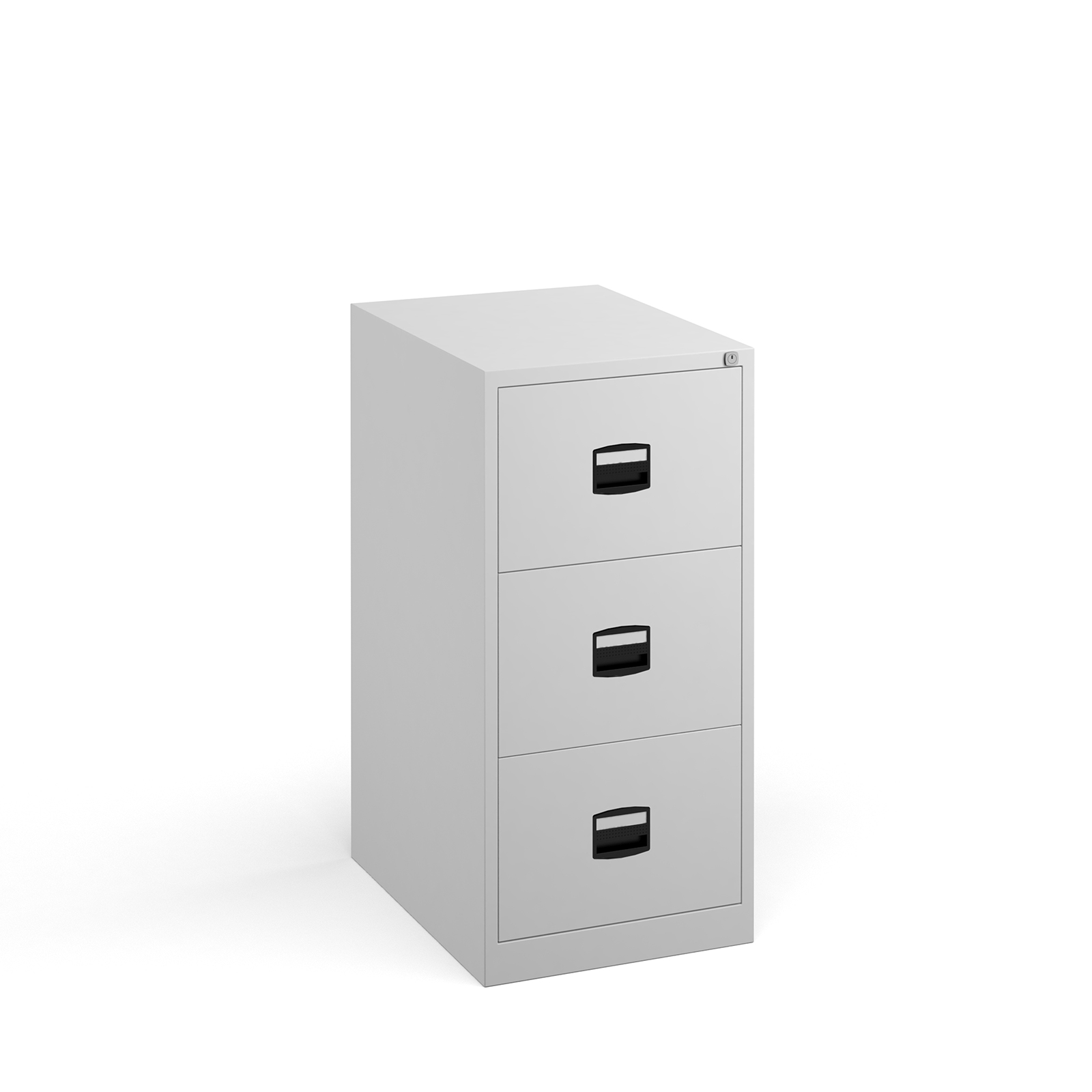 Steel Steel 3 drawer contract filing cabinet 1016mm high - white