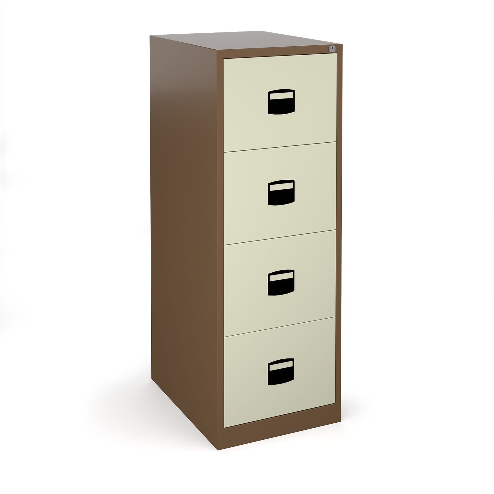 Steel Steel 4 drawer contract filing cabinet 1321mm high - coffee/cream