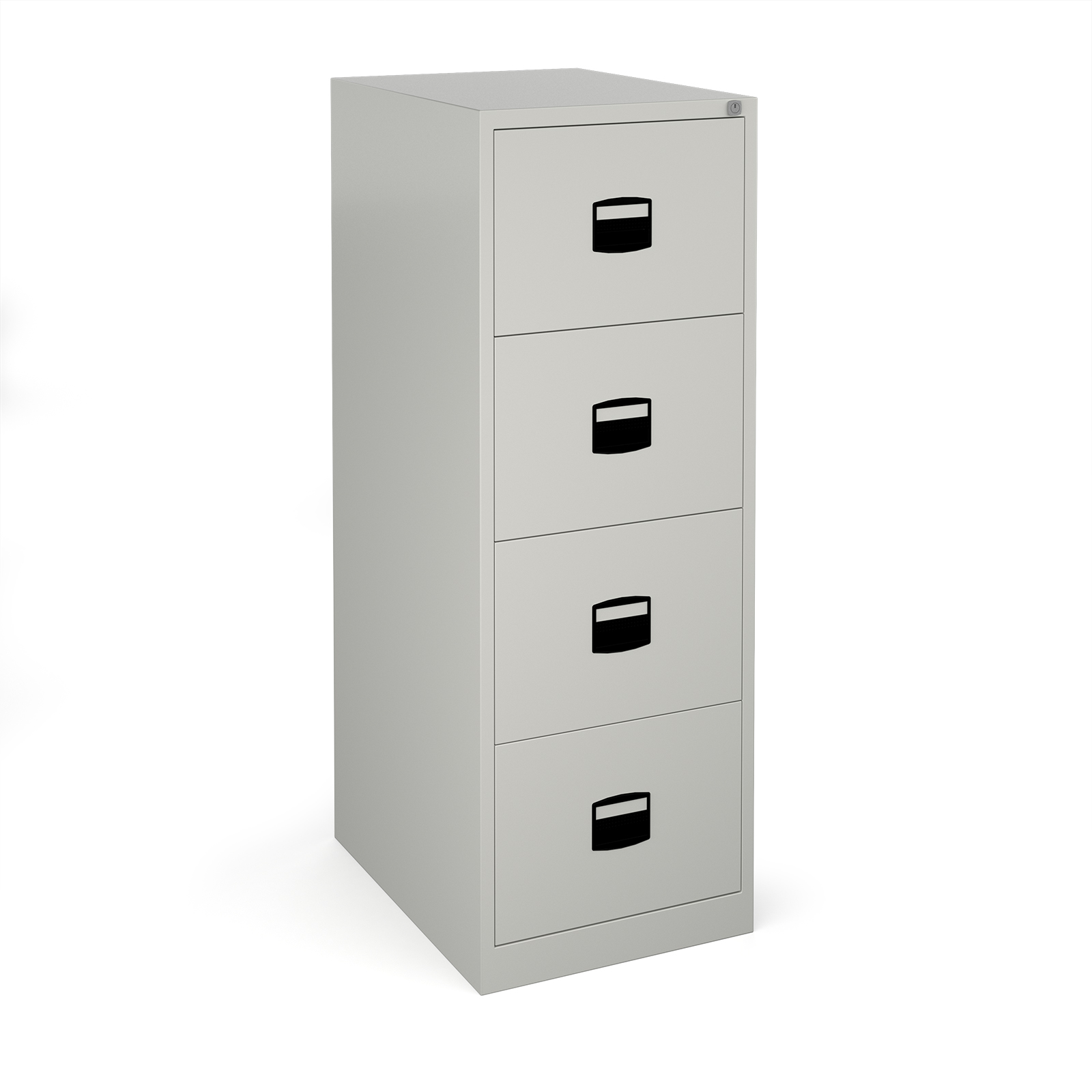 Steel Steel 4 drawer contract filing cabinet 1321mm high - goose grey