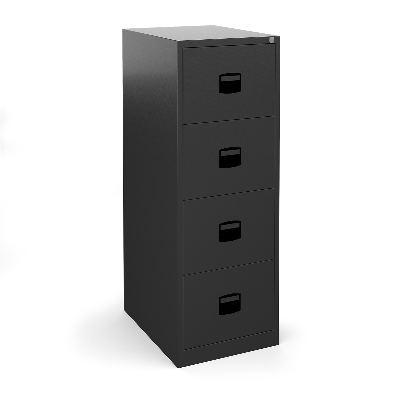 Steel Steel 4 drawer contract filing cabinet 1321mm high - black