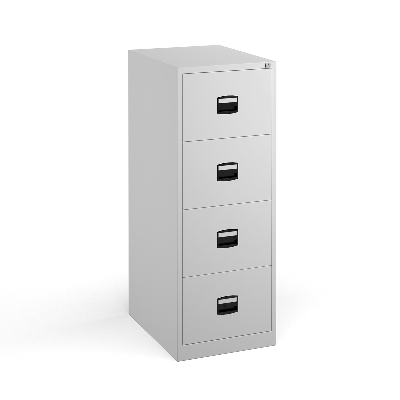 Steel Steel 4 drawer contract filing cabinet 1321mm high - white