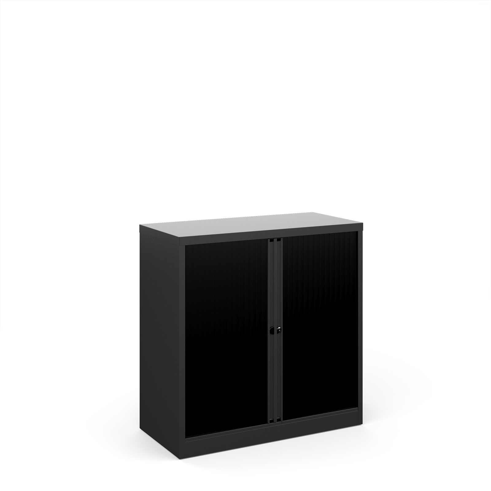 Up to 1200mm High Bisley systems storage low tambour cupboard 1000mm high - black