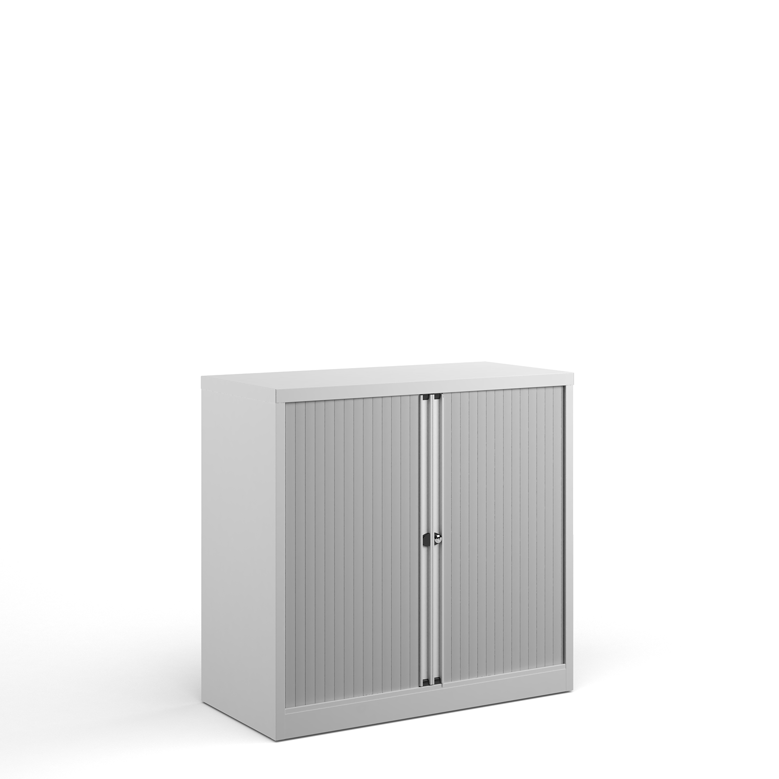 Up to 1200mm High Bisley systems storage low tambour cupboard 1000mm high - white