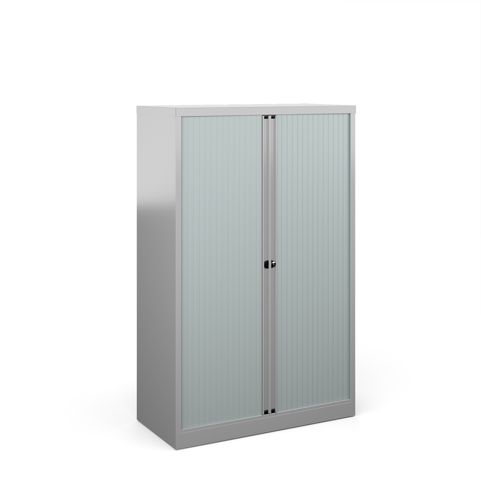 Over 1200mm High Bisley systems storage medium tambour cupboard 1570mm high - silver