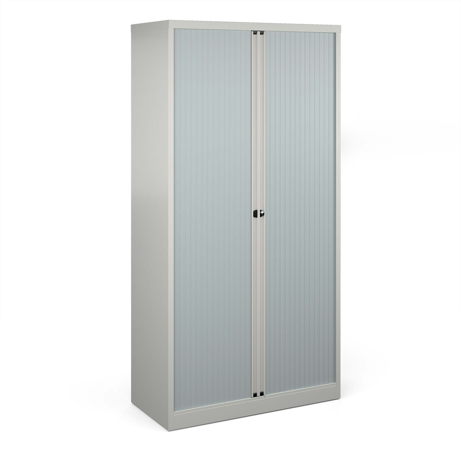 Over 1200mm High Bisley systems storage high tambour cupboard 1970mm high - goose grey