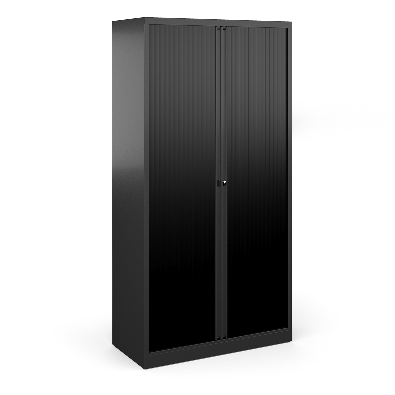 Over 1200mm High Bisley systems storage high tambour cupboard 1970mm high - black
