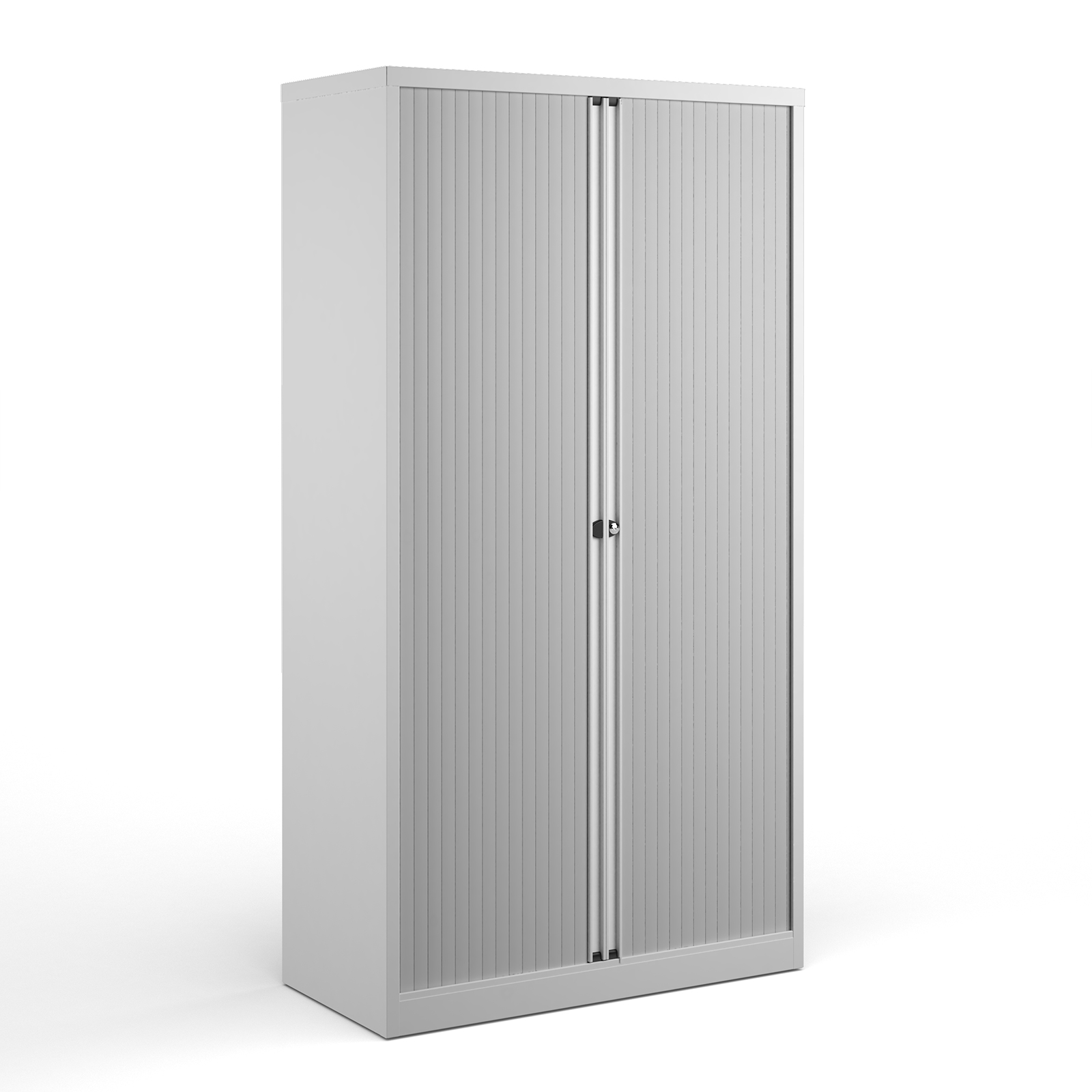 Over 1200mm High Bisley systems storage high tambour cupboard 1970mm high - white