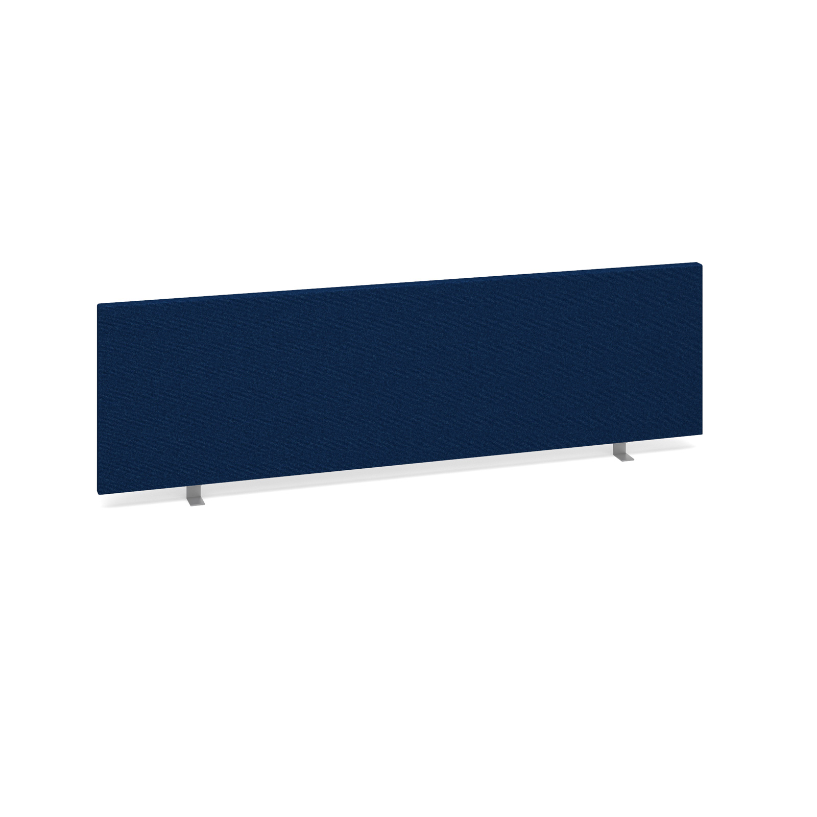 Straight Tops Straight desktop fabric screen 1400mm x 400mm - blue