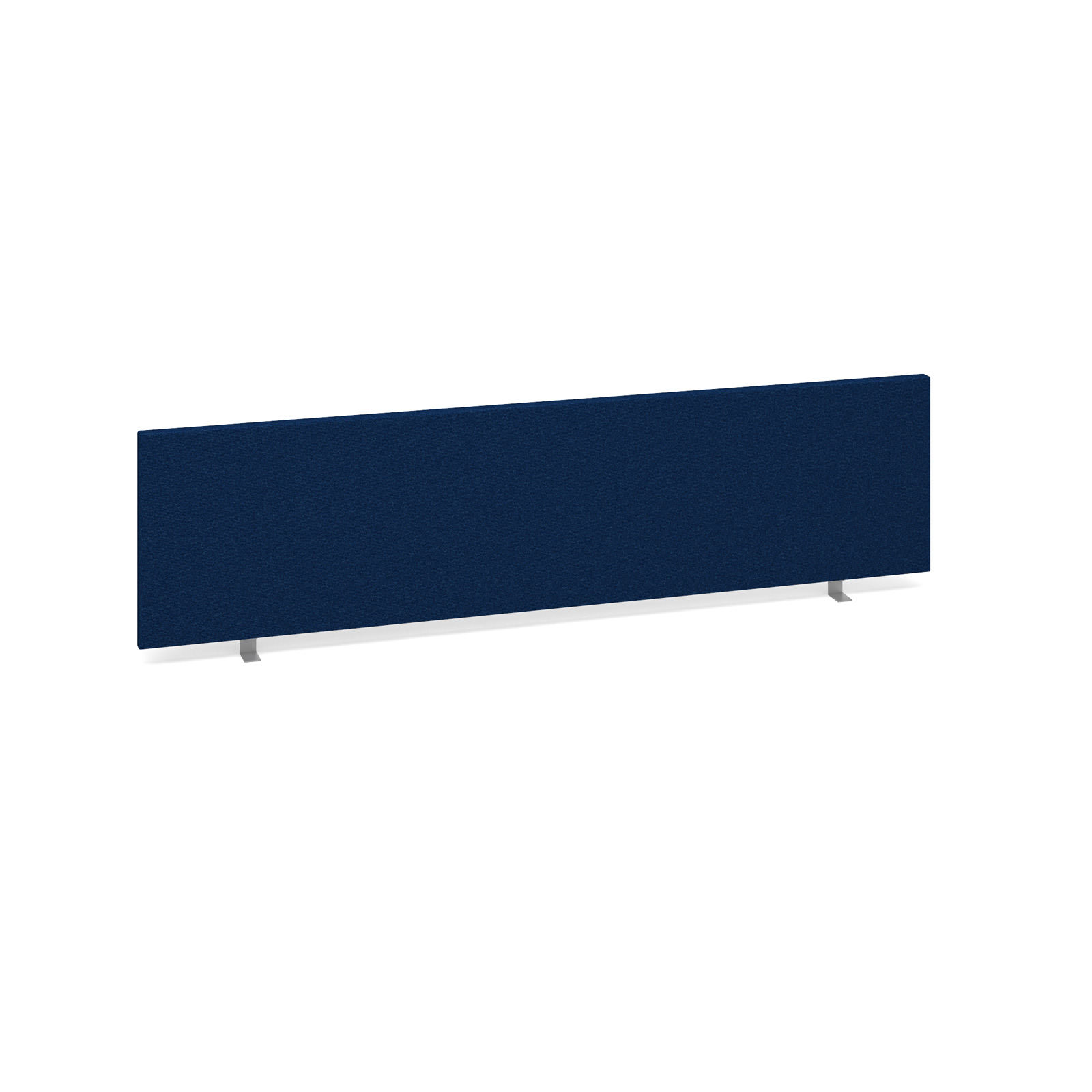 Straight Tops Straight desktop fabric screen 1600mm x 400mm - blue