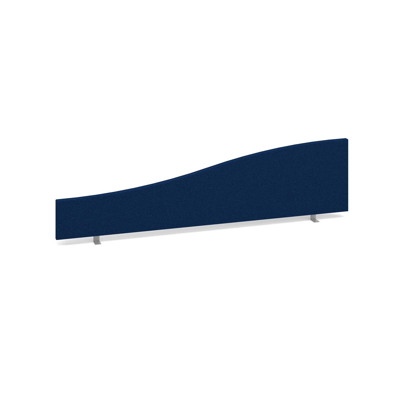 Wave desktop fabric screen 1600mm x 400mm/200mm - blue