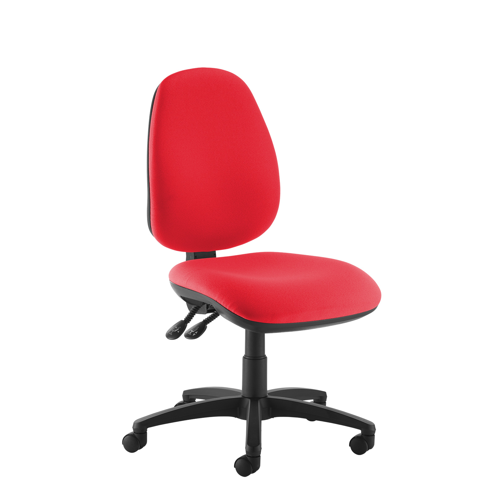 Desk Chairs Jota high back operator chair with no arms - red