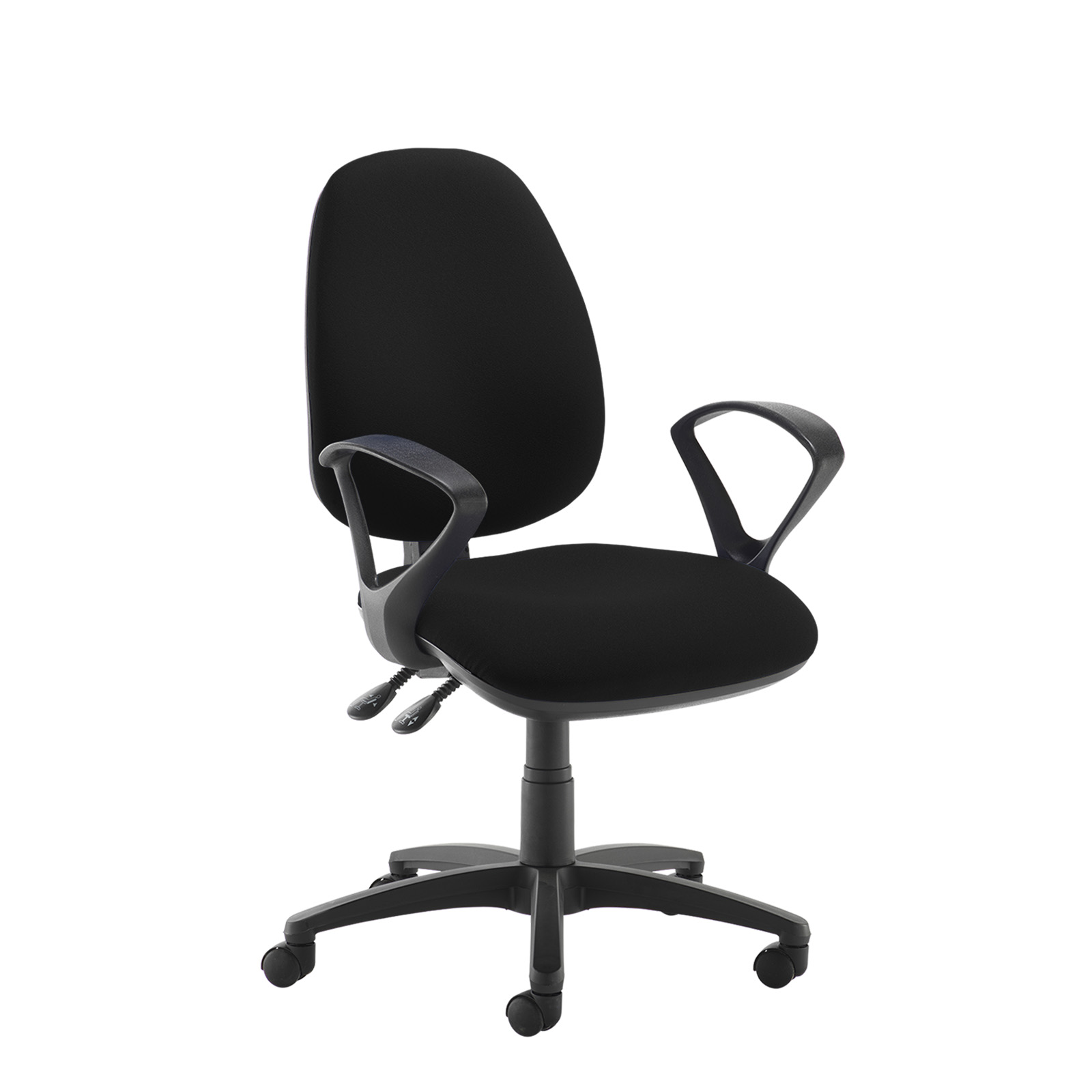 Desk Chairs Jota high back operator chair with fixed arms - black