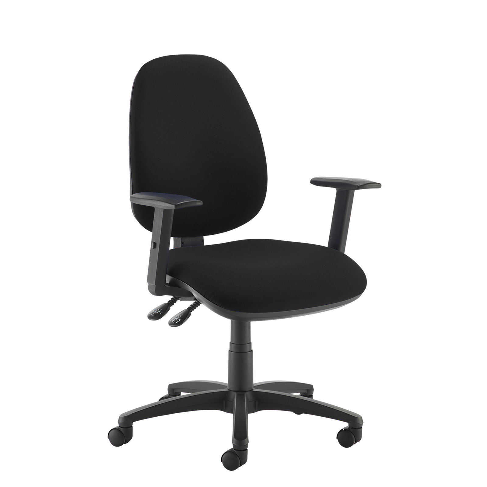 Desk Chairs Jota high back operator chair with adjustable arms - black