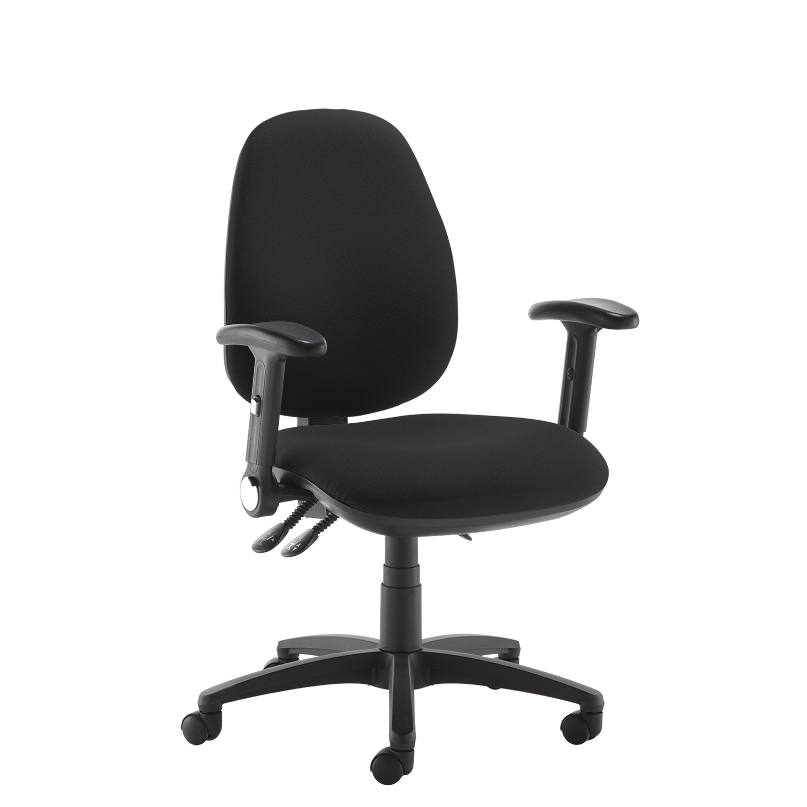Desk Chairs Jota high back operator chair with folding arms - black