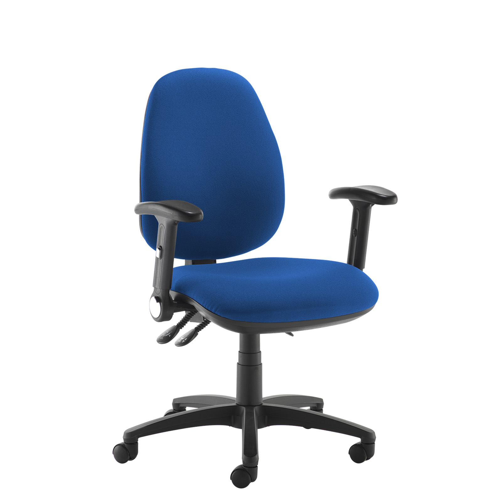 Desk Chairs Jota high back operator chair with folding arms - blue