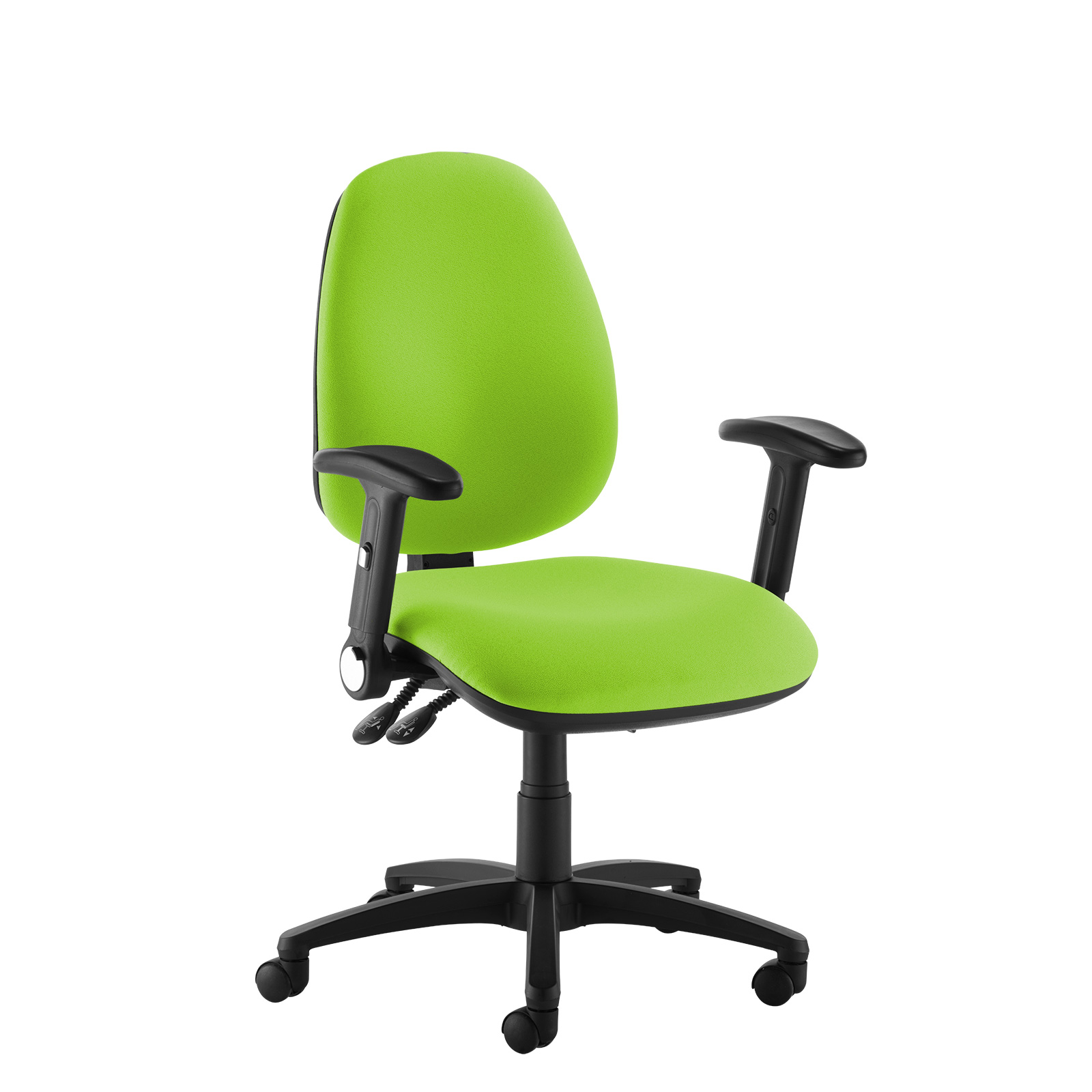 Desk Chairs Jota high back operator chair with folding arms - green