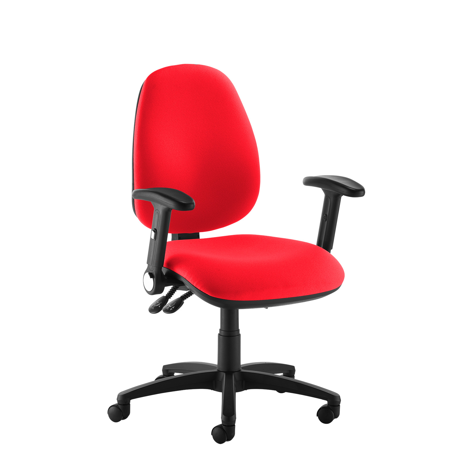 Desk Chairs Jota high back operator chair with folding arms - red