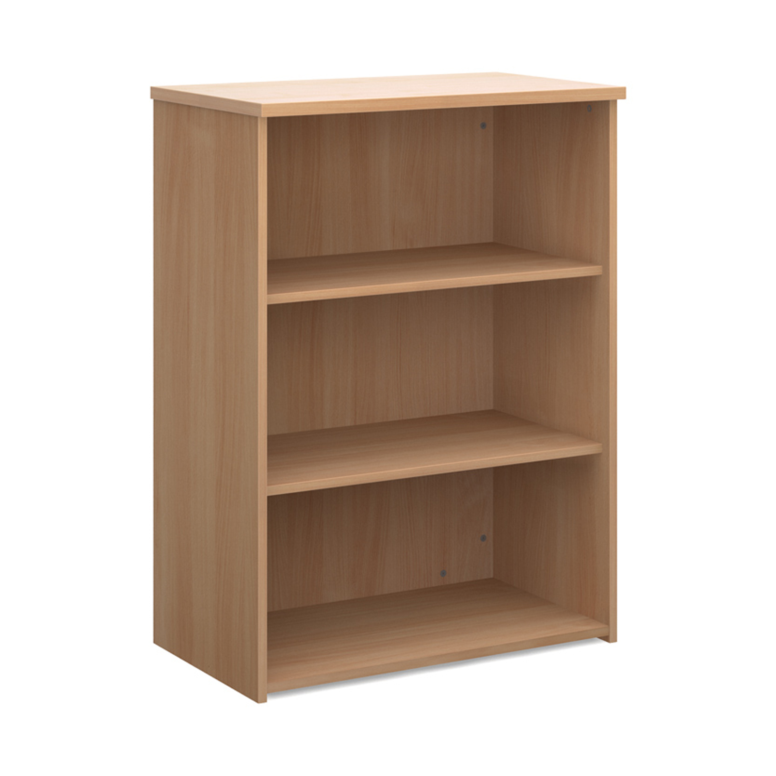 Up To 1200mm High Universal bookcase 1090mm high with 2 shelves - beech