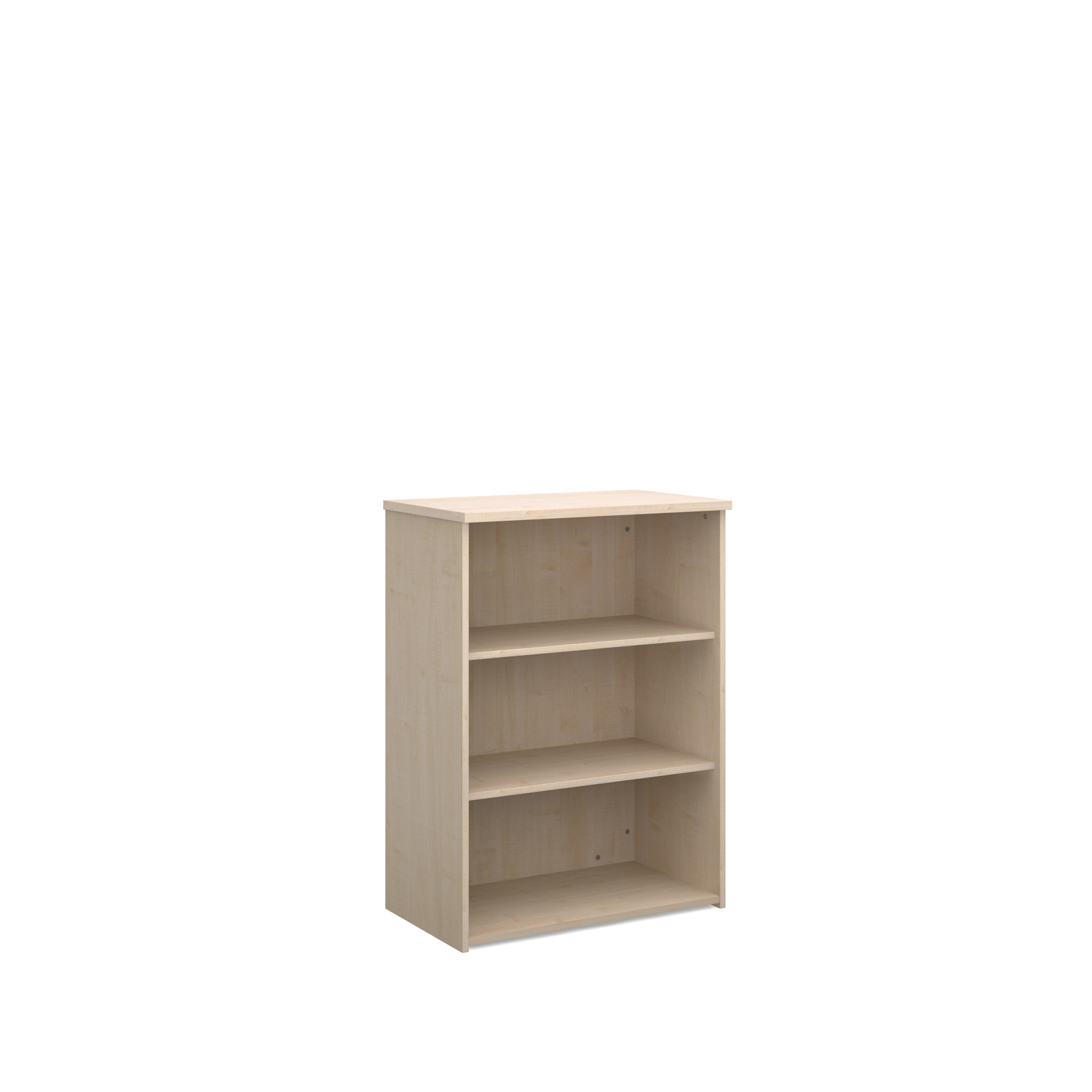 Up To 1200mm High Universal bookcase 1090mm high with 2 shelves - maple
