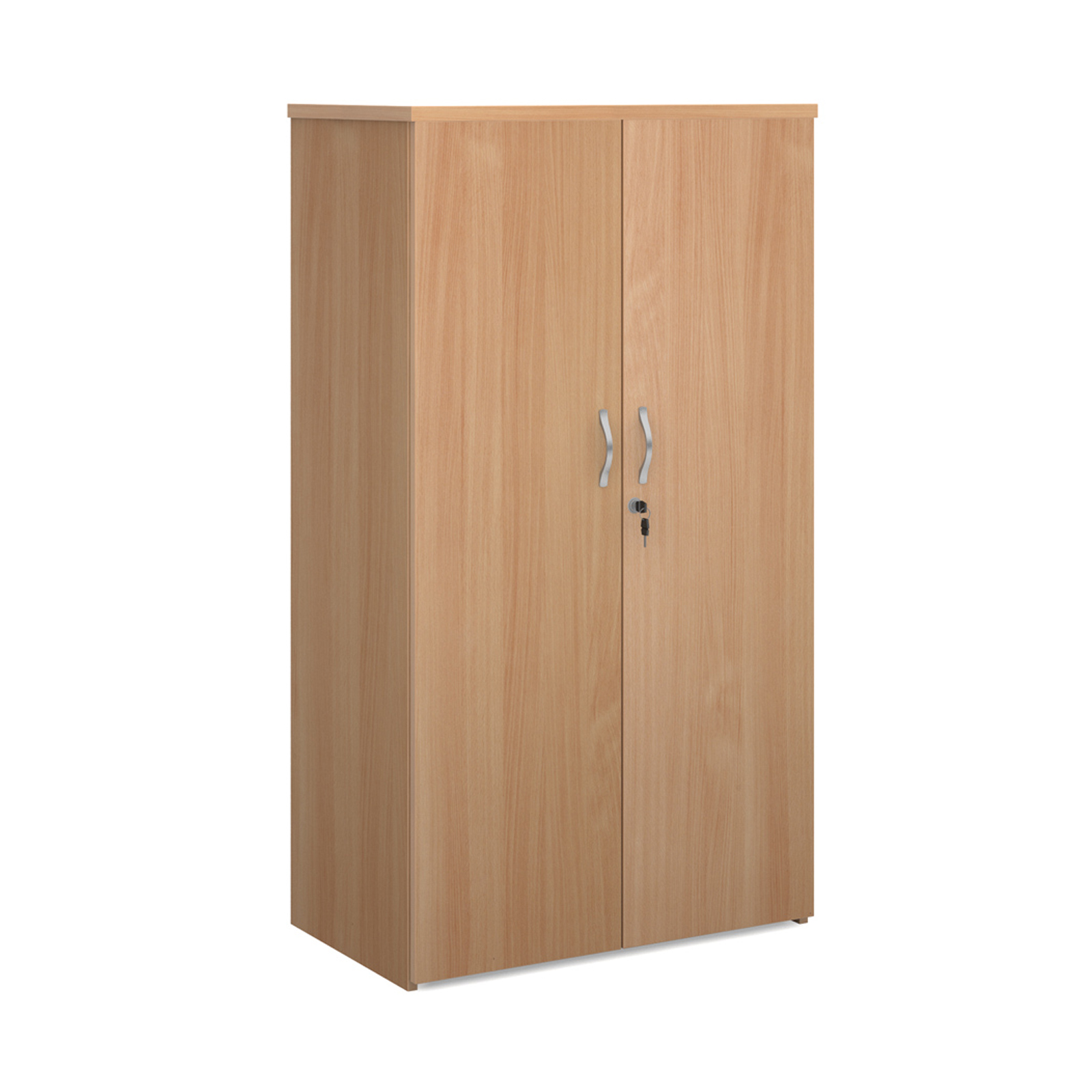 Over 1200mm High Universal double door cupboard 1440mm high with 3 shelves - beech