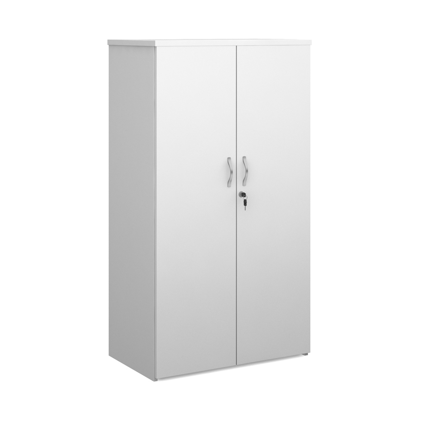 Over 1200mm High Universal double door cupboard 1440mm high with 3 shelves - white