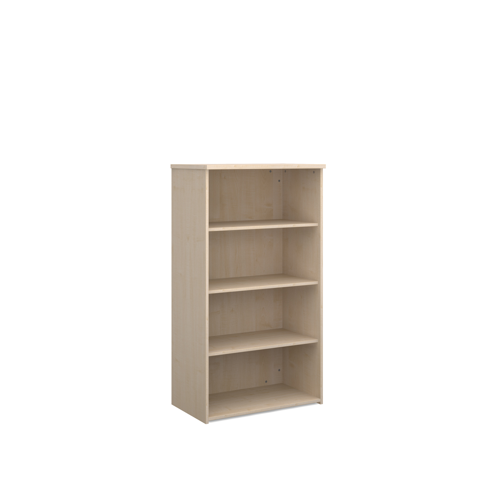 Universal bookcase 1440mm high with 3 shelves - maple