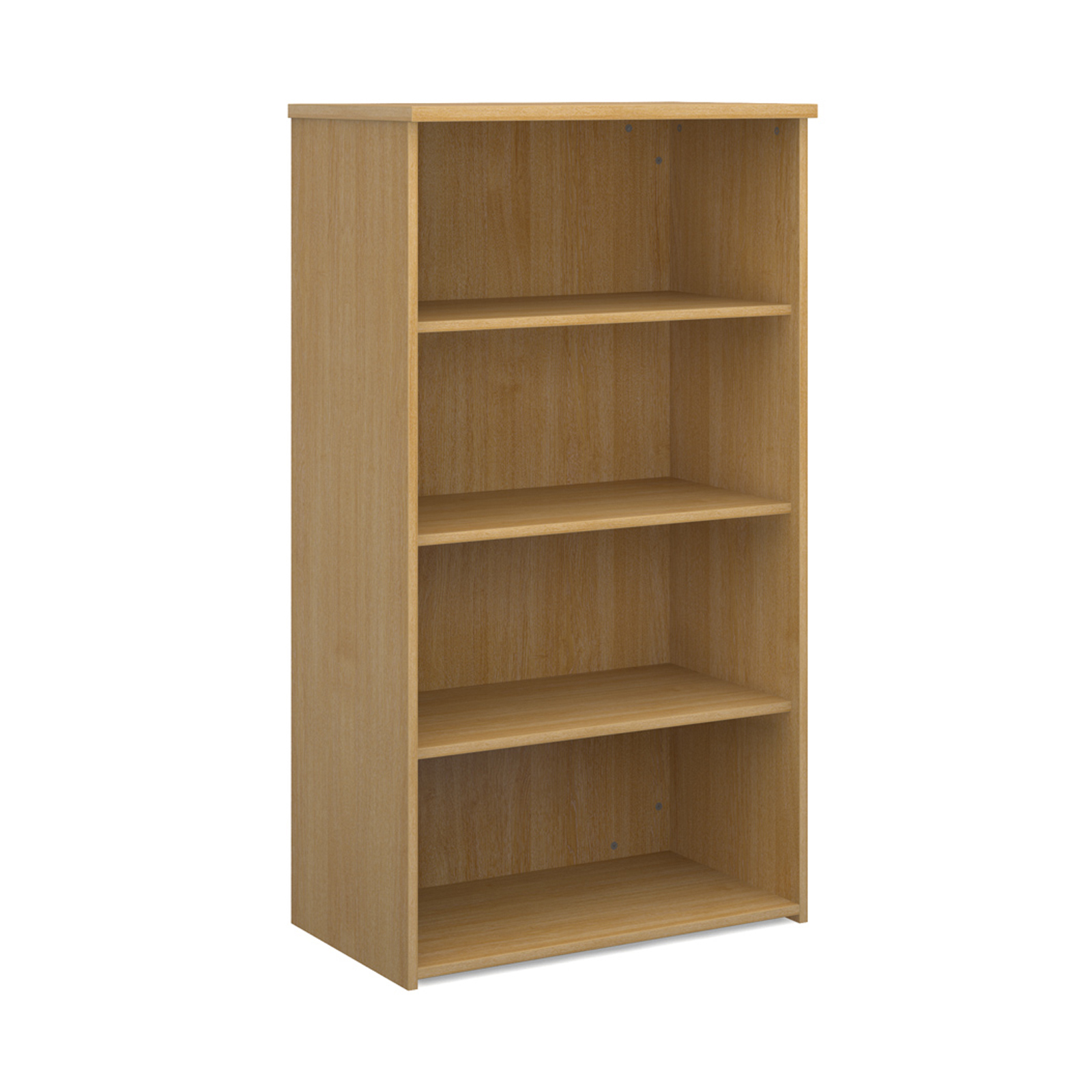 Over 1200mm High Universal bookcase 1440mm high with 3 shelves - oak