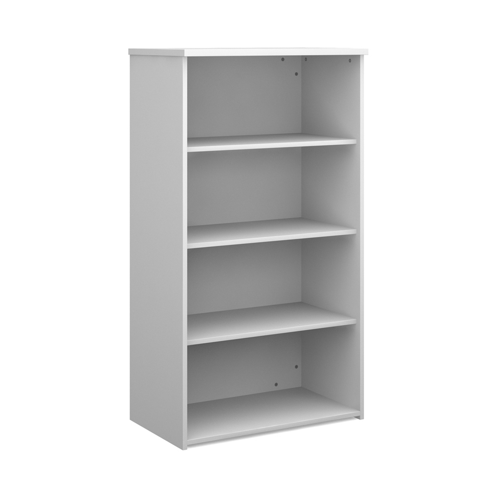 Over 1200mm High Universal bookcase 1440mm high with 3 shelves - white