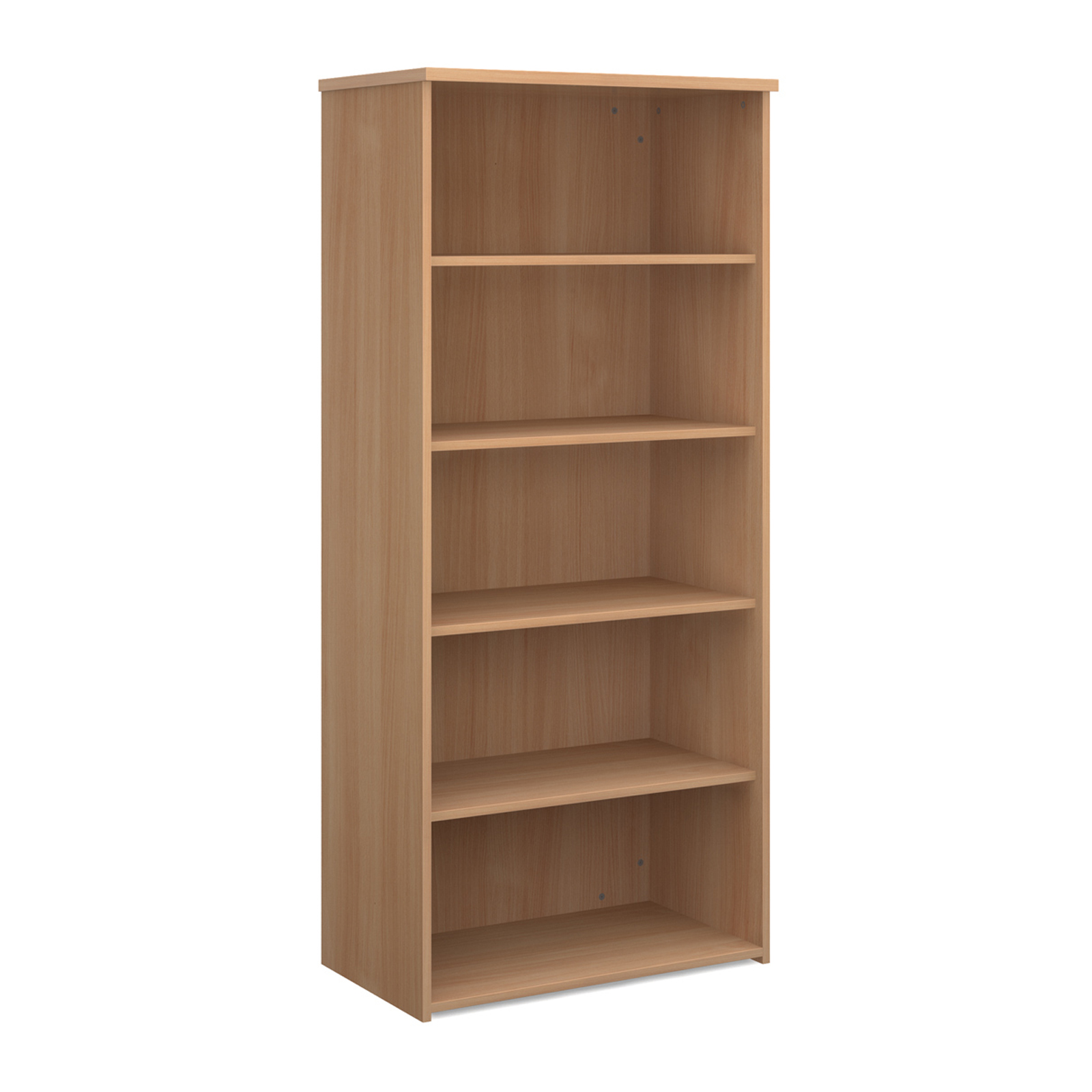 Over 1200mm High Universal bookcase 1790mm high with 4 shelves - beech