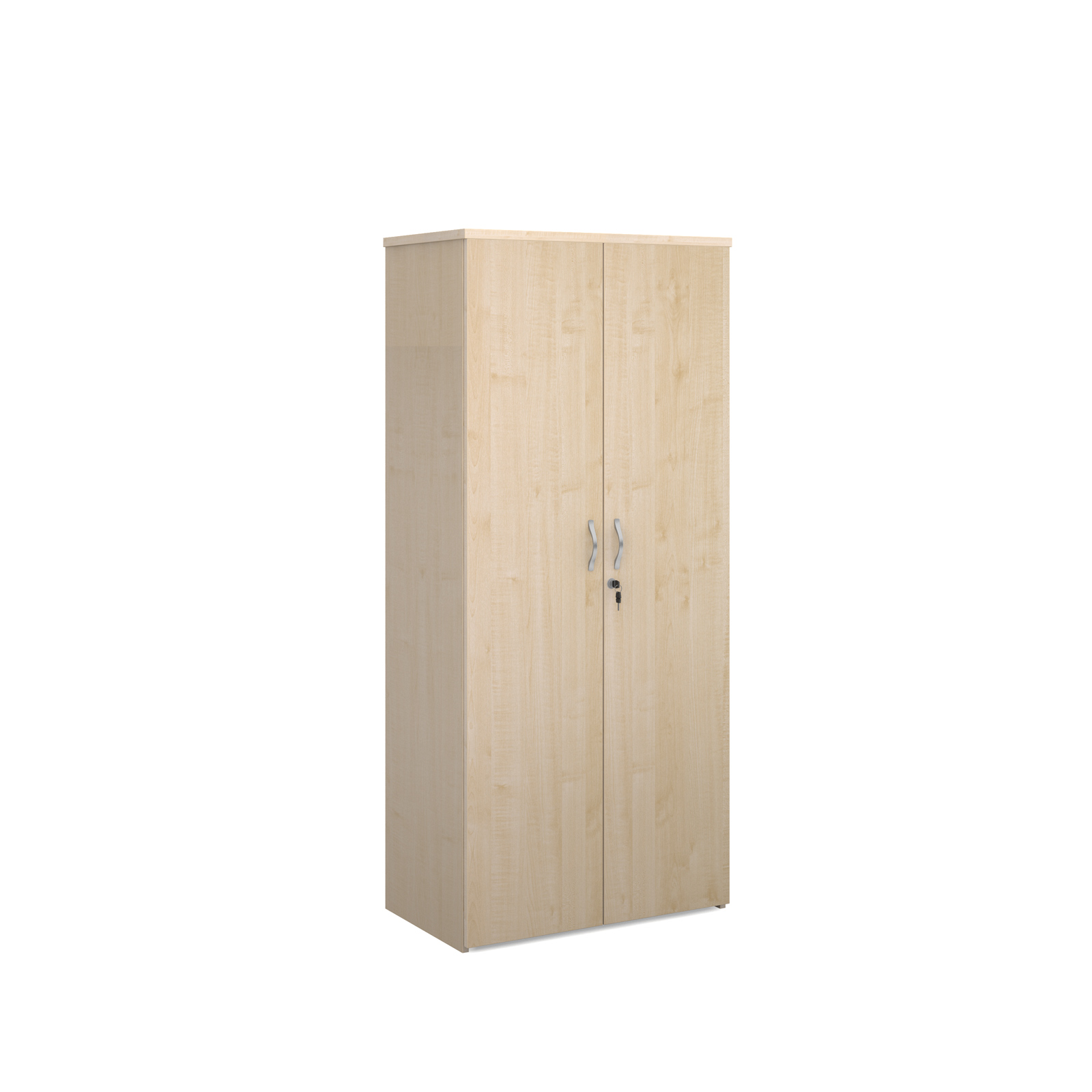 Over 1200mm High Universal double door cupboard 1790mm high with 4 shelves - maple