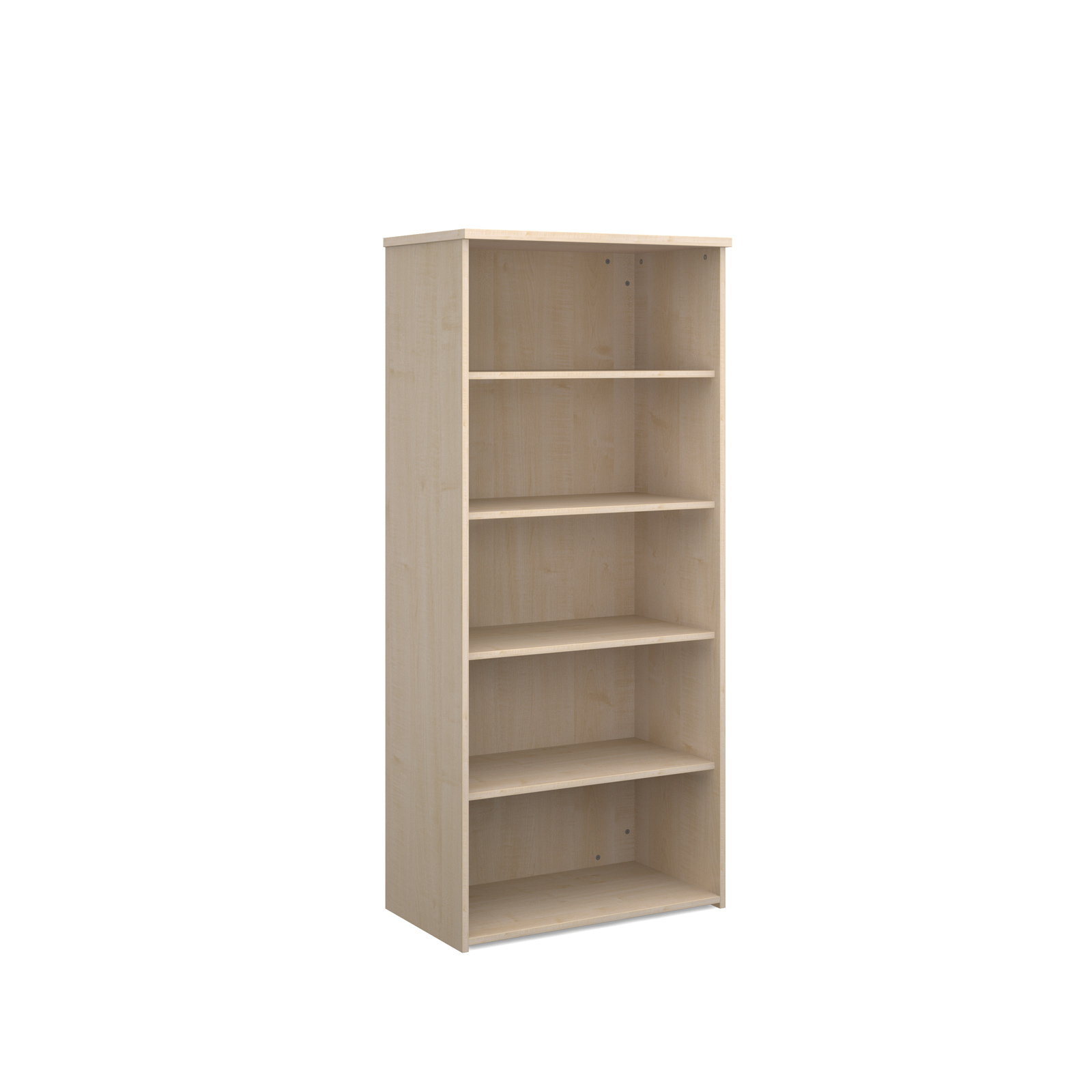 Over 1200mm High Universal bookcase 1790mm high with 4 shelves - maple