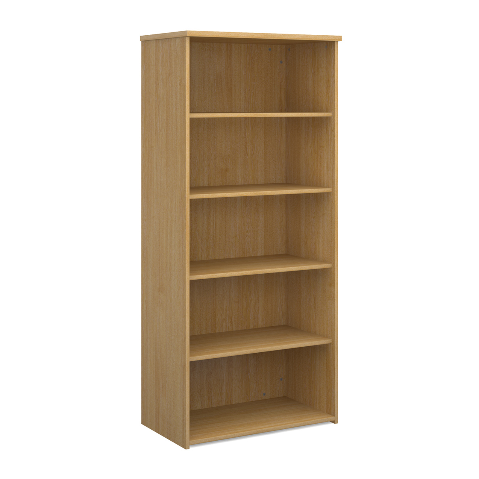 Over 1200mm High Universal bookcase 1790mm high with 4 shelves - oak