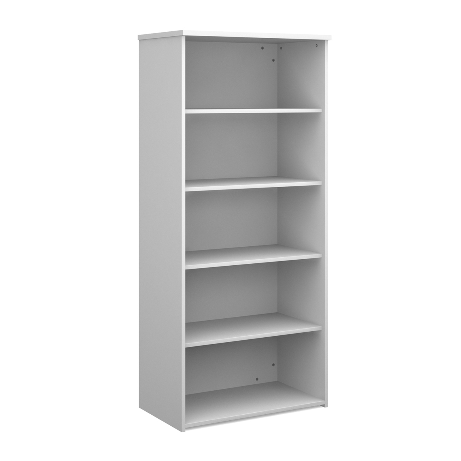 Over 1200mm High Universal bookcase 1790mm high with 4 shelves - white