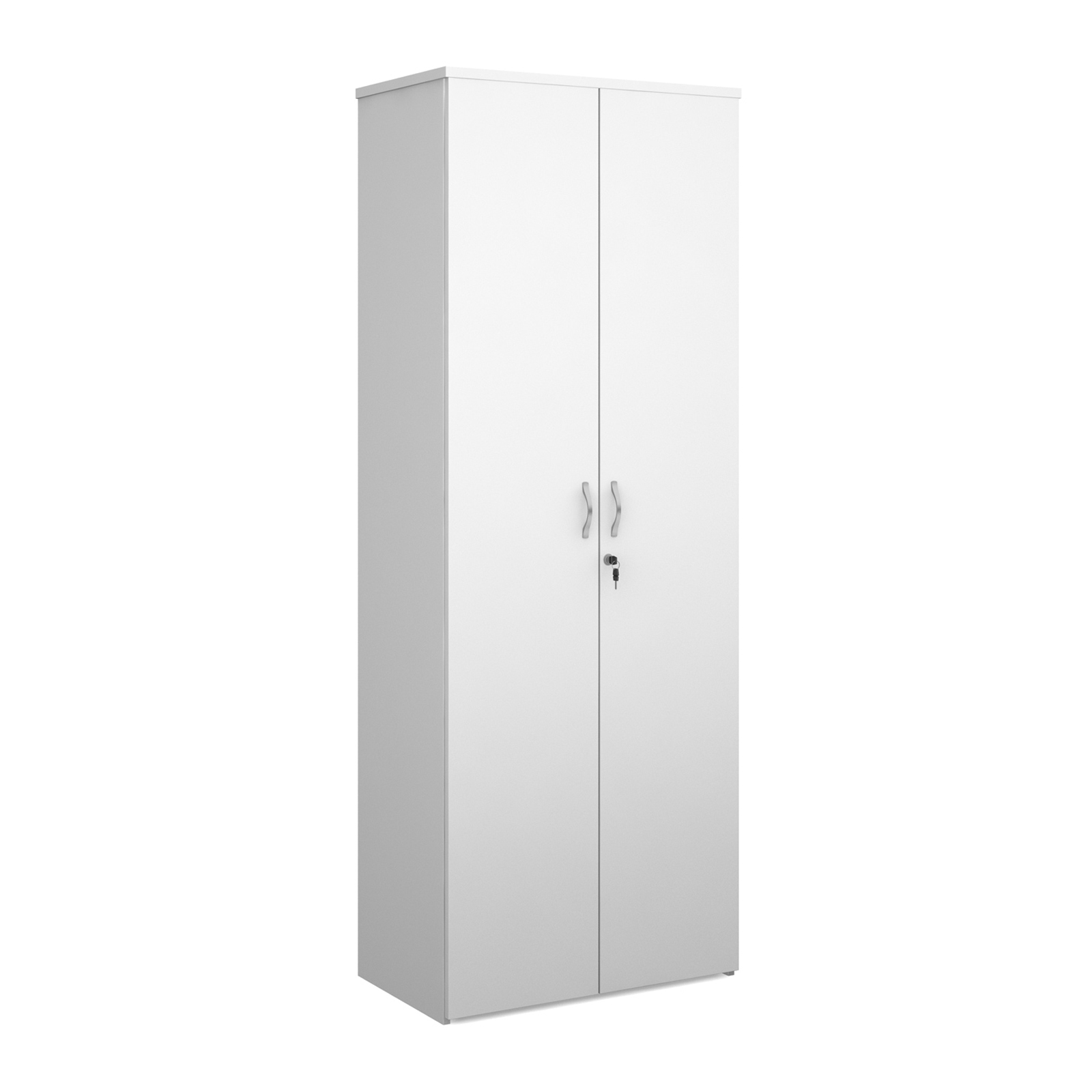 Over 1200mm High Universal double door cupboard 2140mm high with 5 shelves - white