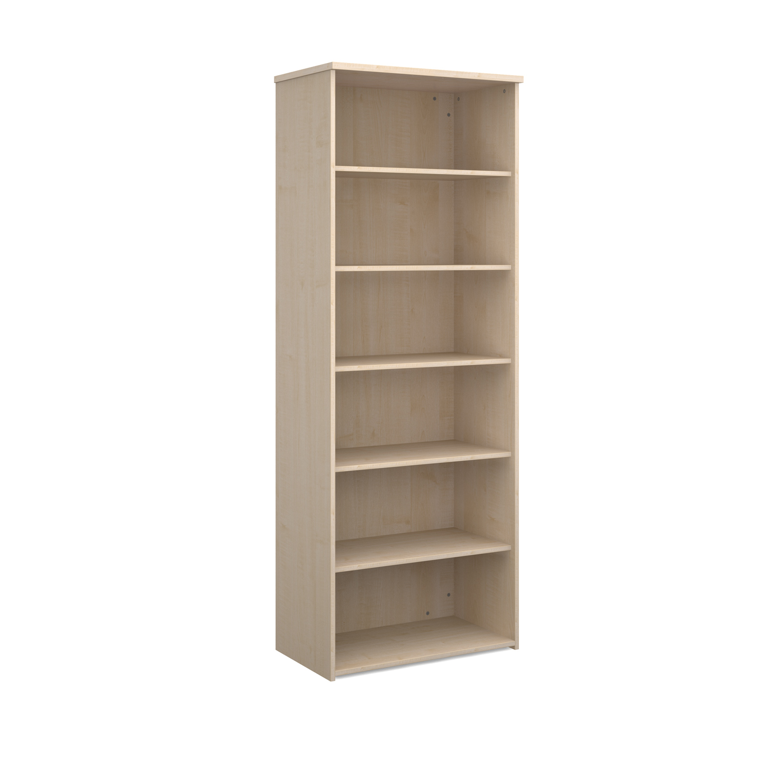 Over 1200mm High Universal bookcase 2140mm high with 5 shelves - maple