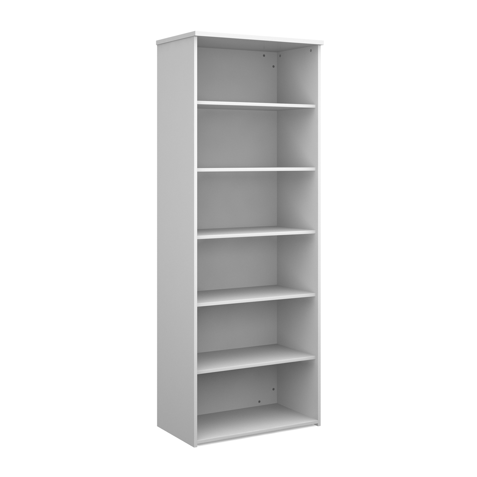 Over 1200mm High Universal bookcase 2140mm high with 5 shelves - white